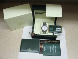 Rolex med box og papirer